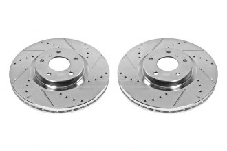 PowerStop® JBR1112XPR - Vented Drilled and Slotted Front Rotors (319.50mm OD, PCD: 5x114.30)