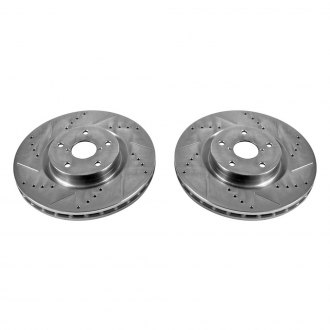 PowerStop® - Vented Drilled and Slotted Front Rotors