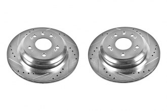 PowerStop® JBR1142XPR - Drilled and Slotted Rear Rotors