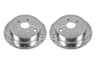 PowerStop® JBR1365XPR - Drilled and Slotted Rear Rotors