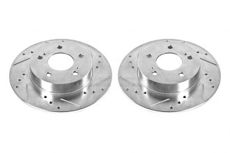 PowerStop® JBR752XPR - Drilled and Slotted Rear Rotors