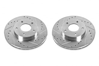 PowerStop® JBR918XPR - Vented Drilled and Slotted Front Rotors (279.91mm OD, PCD: 5x114.30)