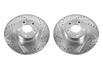 PowerStop® JBR957XPR - Vented Drilled and Slotted Front Rotors (294mm OD, PCD: 5x100)