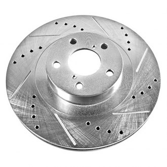 PowerStop® - Vented Drilled and Slotted Front Passenger Side Rotor