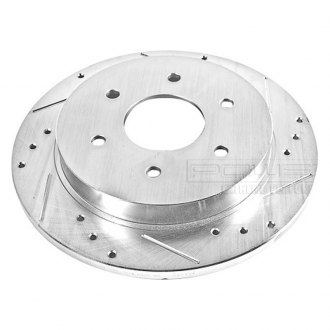 PowerStop® - Drilled and Slotted Rear Passenger Side Rotor