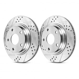 Power Stop® - Track Day Drilled and Slotted Brake Rotors