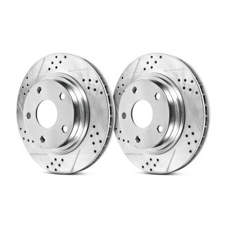 PowerStop® - Track Day Drilled and Slotted Rear Brake Rotors