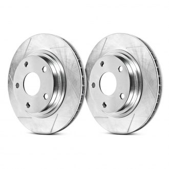 Power Stop® - Track Day Slotted Brake Rotors