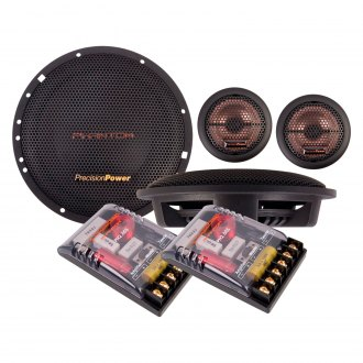 "Precision Power® - 6-1/2"" 2-Way Phantom Series 140W Component Speakers"