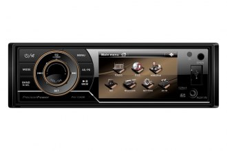 "Precision Power® - Single DIN AM/FM/CD/DVD/WMA/MP3 Multimedia Source Unit with Detachable 3.4"" LCD"
