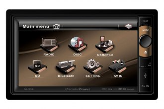 "Precision Power® - Double DIN DVD/MP3/CD/SD/USB Multimedia Source Unit with Motorized 6-1/2"" LCD Screen"