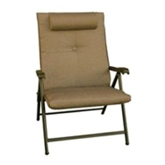 "Prime Products® - Prime Plus Folding Chair Desert Taupe Checkered 44"" H x 28.5"" W x 30.5"" D"