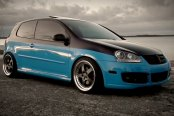 PRIVAT® - LEGENDE Matte Graphite with Machined Lip on Volkswagen Golf