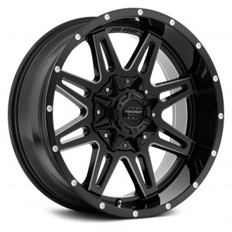PRO COMP® - 42 SERIES BLOCKADE Alloy Gloss Black with Milled Accents