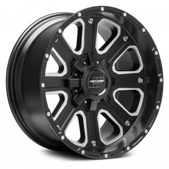 PRO COMP® - 72 SERIES Alloy Satin Black with Milled Accents