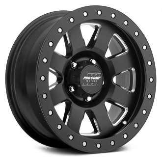 PRO COMP® - 74 SERIES Alloy Satin Black with Milled Accents