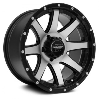 PRO COMP® - 76 SERIES Alloy Gloss Black with Machined Face