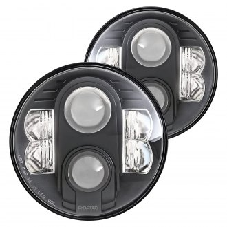 "Pro Comp® - 7"" Round Black Projector LED Headlights"