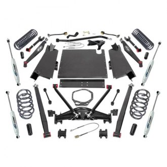 "Pro Comp® - 4"" Stage 1 Front and Rear Long-Travel Complete Lift Kit"