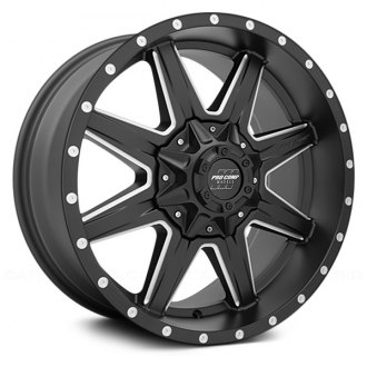 PRO COMP® - 48 SERIES QUICK 8 Alloy Satin Black with Milled Accents