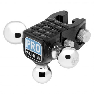 "Pro Series® - Adjustable Tri-Ball Ball Mount with Step for 2"" Receivers"