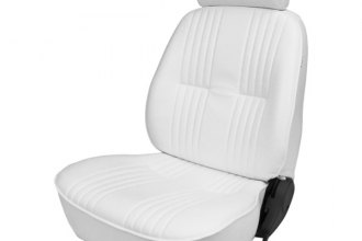 Procar® - Pro-90™ Driver Side White Vinyl Sport Seat with Headrest
