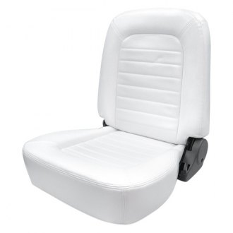 Procar® - Classic™ Driver Side Lowback White Vinyl Sport Seat W/O Headrest