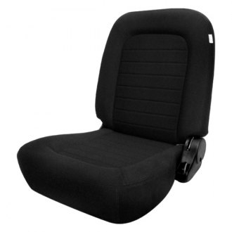Procar® - Classic™ Passenger Side Lowback Black Velour Sport Seat W/O Headrest