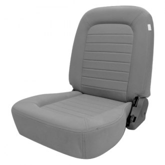 Procar® - Classic™ Passenger Side Lowback Gray Velour Sport Seat W/O Headrest