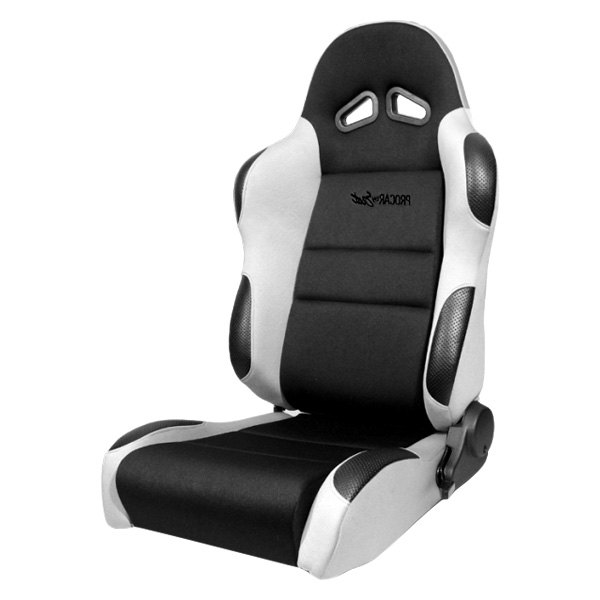 Procar® - Sportsman™ Series Vinyl Office Chair, Black Velour Inside, Gray Velour Wings & Side Bolsters