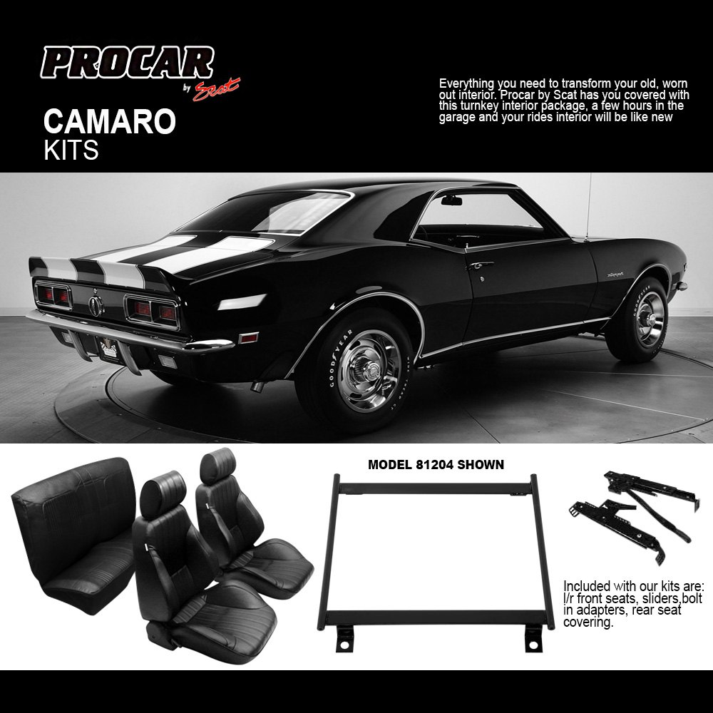 Procar replacement seats for 1967 1969 chevy camaro at carid camaro forums chevy camaro for 69 camaro complete interior kit