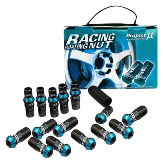 Project Mu® - Black Chrome Racing Floating Lug Nuts