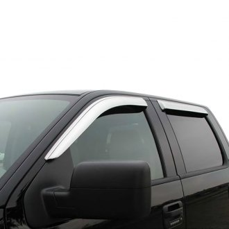 ProMaxx® - Tape-On Chrome Front and Rear Window Deflectors