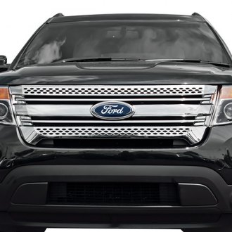 2015 ford explorer custom grilles billet mesh led. Black Bedroom Furniture Sets. Home Design Ideas