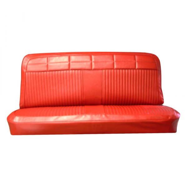 PUI Interiors Red Door Panel Source · PUI Interiors 64BS4D64B Front Red  Madrid Gain Vinyl Bench Seat Cover