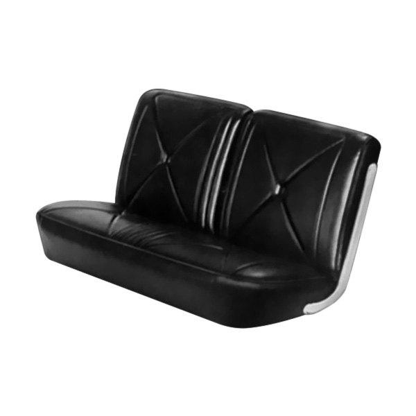 Astounding Pui Interiors 66Cs10Bs Front Black Madrid Grain Vinyl Bench Seat Cover Cjindustries Chair Design For Home Cjindustriesco