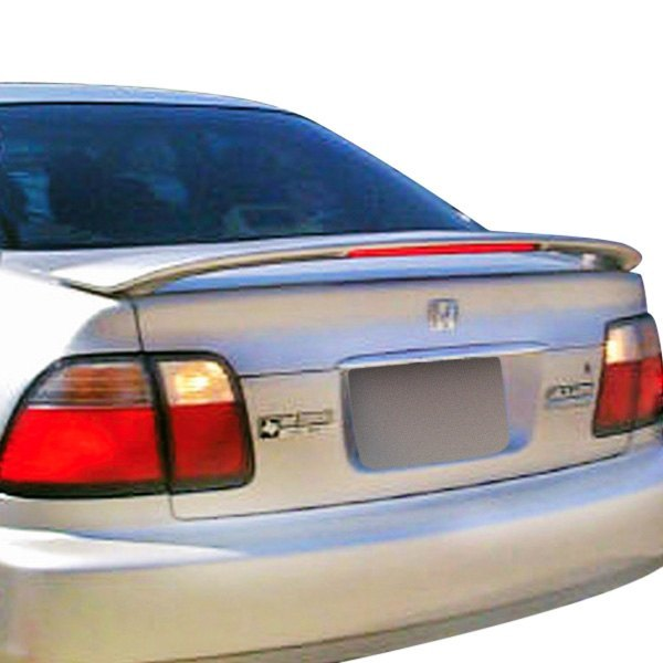Pure® - Custom Style Fiberglass Rear Spoiler with Light