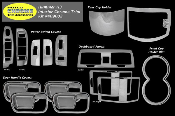 2006 hummer h3 chrome accessories trim at for Hummer h3 interior accessories
