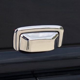 Image may not reflect your exact vehicle!Putco® - Chrome Rear Hatch Handle Cover