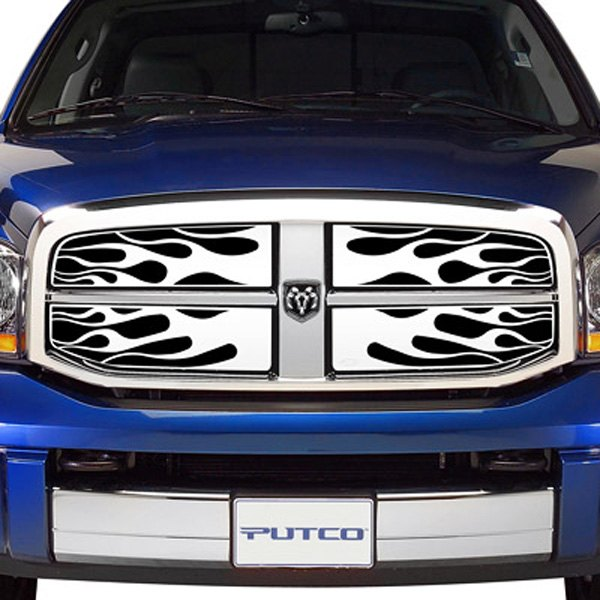 Image may not reflect your exact vehicle!Putco® - Flaming Inferno Polished Grille Insert