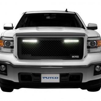Putco® - Lighted Boss LED Black CNC Machined Main Grille