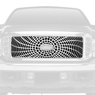 Putco® - Liquid Series Spider Web Design Polished CNC Machined Grille
