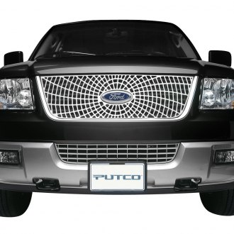 Putco® - Liquid Series Spider Web Design Polished CNC Machined Main Grille