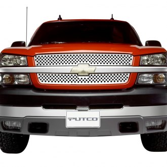 Putco® - 2-Pc Designer FX Series Polished Diamond Punch CNC Machined Grille