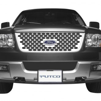 Putco® - Designer FX Series Polished Oval Punch CNC Machined Main Grille