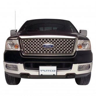 Putco® - Designer FX Series Polished Oval Punch CNC Machined Grille