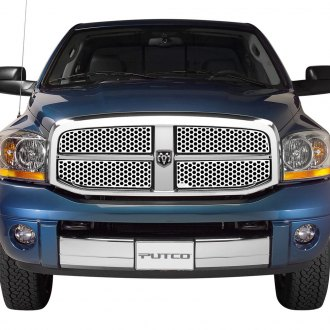 Putco® - 4-Pc Designer FX Series Polished Honeycomb Punch CNC Machined Main Grille