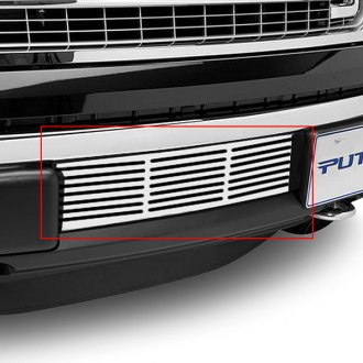 Putco® - EcoBoost Series Polished Horizontal Bar Punch CNC Machined Bumper Grille