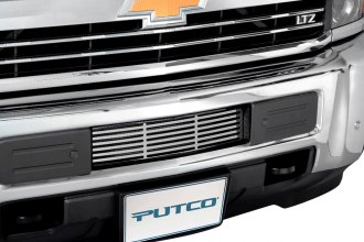 Putco® - 2-Pc Polished Bar Punch CNC Machined Bumper Grille