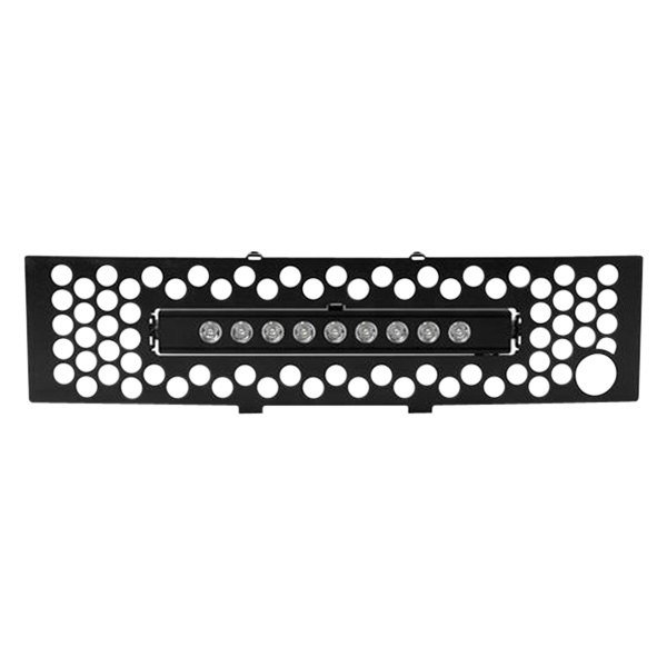 Putco 88182L Punch Stainless Steel Black Grille with 10 Luminix Light Bar for Ford EcoBoost
